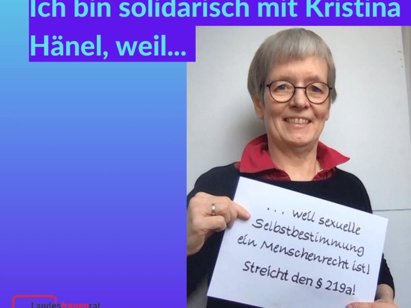 Information ist kein Verbrechen! - Solidarität mit Kristina Hänel!