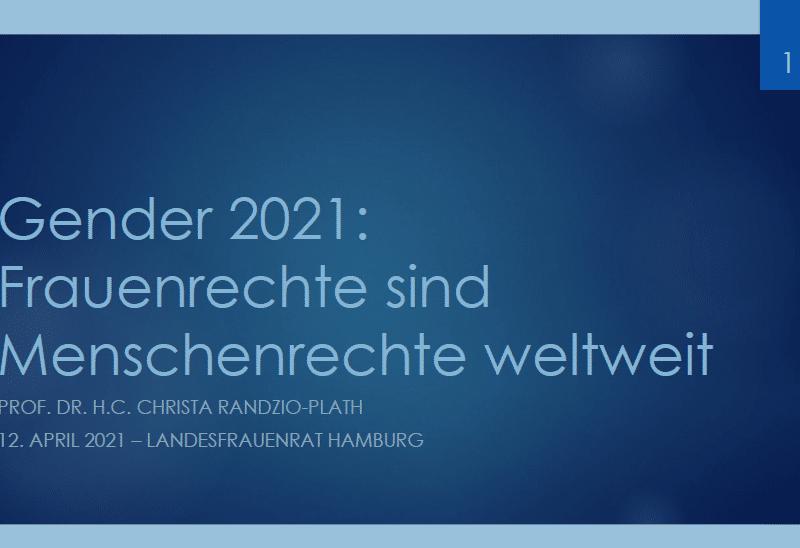 Internationale Frauenrechte 2021 - Wo stehen wir?