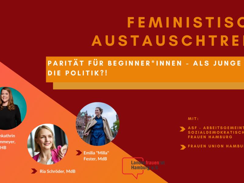 Feministisches Austauschtreffen: Parität für Beginner*innen - Als junge Frau in die Politik?!