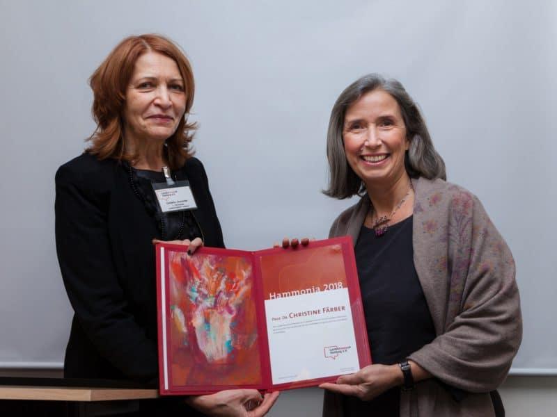 Verleihung der Hammonia 2018 an Prof. Dr. Christine Färber