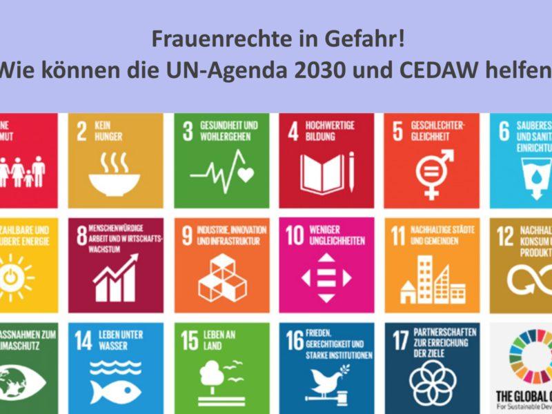 Frauenrechte in Gefahr - wie können die UN-Agenda 2030 und CEDAW helfen?