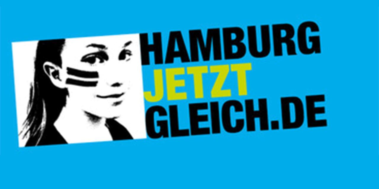 #HamburgJetztGleichDIE GUTE NACHRICHT: DIE HÄLFTE DER MENSCHEN IN HAMBUGR IST SCHON GLEICHBERECHTIGT...